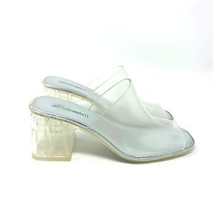 Jeffery Campbell Womans Clear Jelly Mule 8M